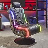 X-Rocker Monsoon RGB 4.1 - Silla estéreo para videojuegos con iluminación LED vibrante