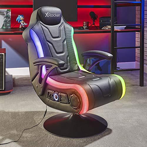 X-Rocker Monsoon RGB 4.1 - Silla estéreo para videojuegos con iluminación LED...