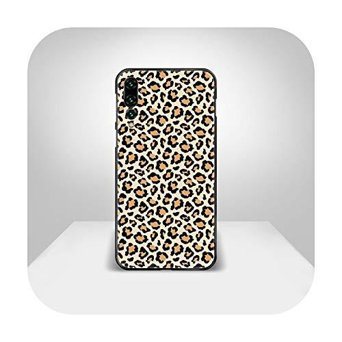 Patrón de leopardo caso del teléfono cubierta casco para Huawei P8 P9 P10 P20 P30 P40 Lite Pro Plus Smart Z 2019 parachoques negro bastante impermeable-5-P Smart Z