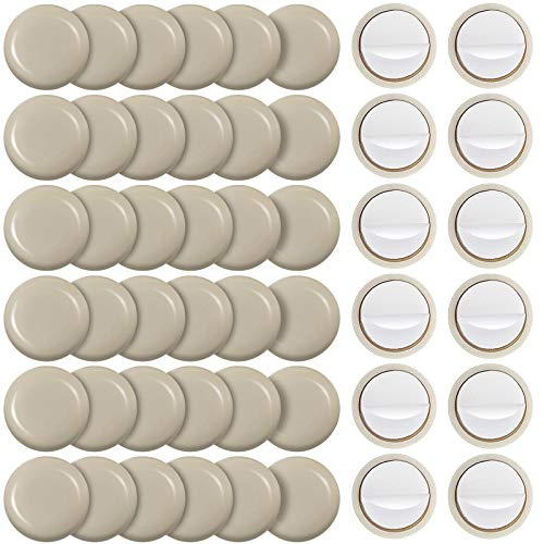 36 Pieces 1 Furniture Sliders for Carpet Sliders 1 Inch Furniture Glides Moving Sliders Pads for Carpet (Round)