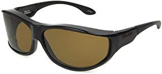 نظارات شمسية فوستر غرانت ماللوي بيضاوية مستقطبة بلون السلحفاة، 79.2 ملم