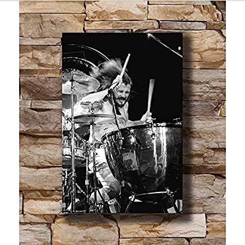 YTYTOO Plakate Leinwand Wandkunst Drucke Ölgemälde John Bonham B Led Zeppelin Einzigartige Vektor Home Decoration Poster Wand Leinwand Kunst 40X60Cm