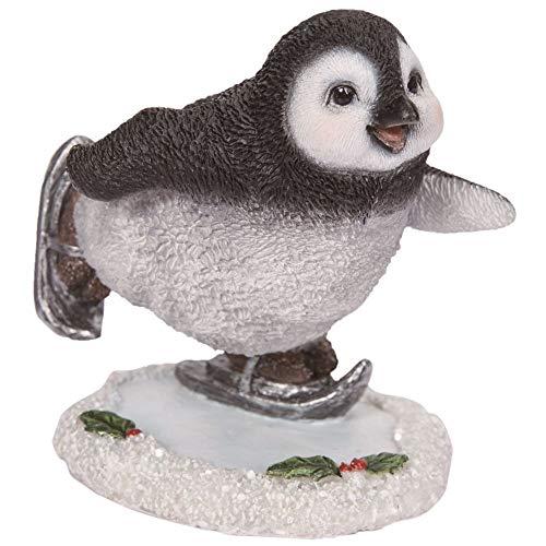 Vivid Arts Penguin Skating Garden Outdoor Indoor Ornament Figure Weather Resistant