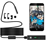 Endoscope iPhone, Sukey Wireless Endoscope Inspection Camera Borescope iPhone 2.0MP HD Waterproof IP68 WiFi Borescope Semi-Rigid Snake Camera for iPhone, Android, iOS Smartphone, Tablet, PC (16.5FT)