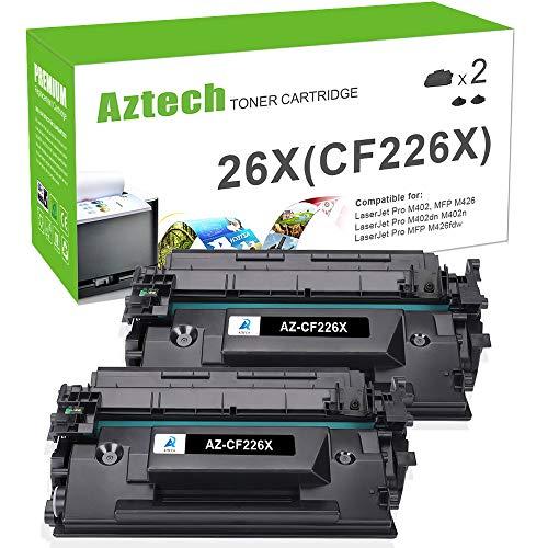 Aztech Kompatibel Toner Cartridge Replacement für HP 26X CF226X 26A CF226A Toner für HP Laserjet Pro M402n M402dn HP Laserjet Pro MFP M426fdn M426fdw M426dw HP M402d M426fdn M426fdw M402n M402dn Toner