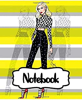 Notebook: Gwen Stefani American Singer No Doubt Music Band R&B, Electro, And J-pop, Large Notebook for Drawing, Doodling or Writting: 110 Pages, 7.5