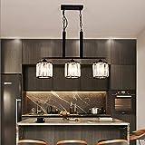BXU-BG LED negro cristal lámpara de techo caliente amarillo luz hierro comedor sala estudio dormitorio moderno Fashional decoración