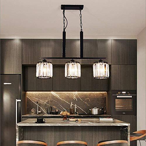 IGOSAIT Luz de techo, Led Negro Cristal Lámpara de Techo Caliente Amarillo Luz Hierro Comedor Sala Estudio Dormitorio Moderno Fashional Decoración