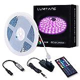 LED Strip 6m, RGB LED Streifen SMD 5050 LED Leuchten, Farbwechsel LED Band mit 44 Tasten RF Fernbedienung 12V UL-Netzteil für Räume, Bar, Festivaldekoration und Beleuchtung (6M)