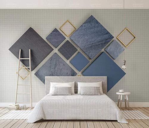 Fotobehang voor de woonkamer, slaapkamer, behang, driedimensionale ruiten van de stof 3d, die Scandinavische geometrische tv-achtergrondschilderij nadt 200 * 140cm 3D Mural.
