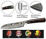 Zeuß L Küchenmesser Damastmesser (24 cm) - Profimesser - 67 Schichten Japanischem Damaststahl - Allzweckmesser - Santoku - Kochmesser - Chefmesser - 3