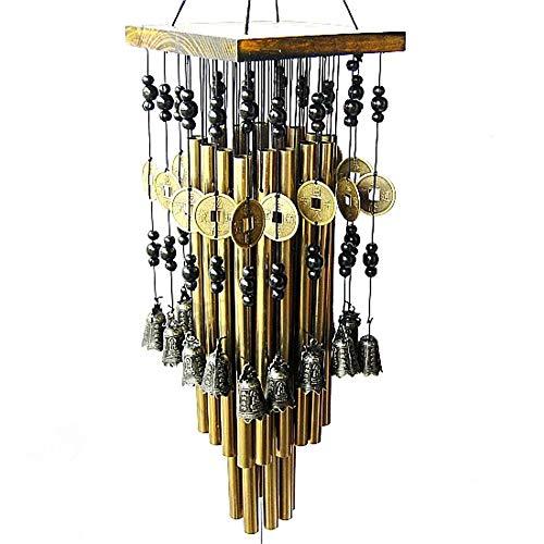 QMJHL Massivholz Metall Aluminiumrohr Windspiele, Multi-Rohr Windspiele, verbessern Feng Shui, reich und voller Klang, zu Hause im Freien Balkonzubehör.