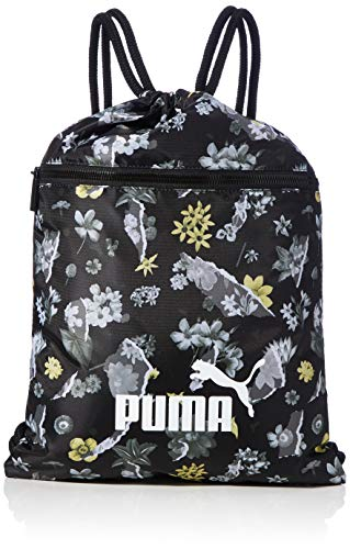 PUMA Damen Turnbeutel WMN Core Seasonal Gym Sack, Puma Black-AOP, OSFA, 77383