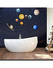 Urben Life Naklejki na ścianę świecące naklejki na ścianę z motywem układu słonecznego, fluorescencyjne, usuwalne, dekoracja domu, do sypialni, salonu, pokoju dziecięcego.