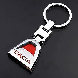LBPLWY Keychain Llavero,3D Metal Car Keychain Key Holder Holder Decoración para Dacia Duster Logan Sandero Stepway Lodgy Mcv 2 Dokker Chain Ring