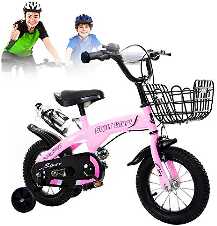 el mas de moda Q&J Bicicleta para para para Niños, Silla de Montar y manillares Ajustables en Altura, Caja de Cadena Cerrada, 2 Frenos, Pedal Antideslizante, Ruedas de Apoyo,14zoll  mejor moda