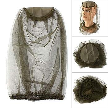 Changor Net de moustiquaire de tête Respirante, Protection de la Face de Maillage de la tête de moustiche en Polyester de la tête de moustiquaire