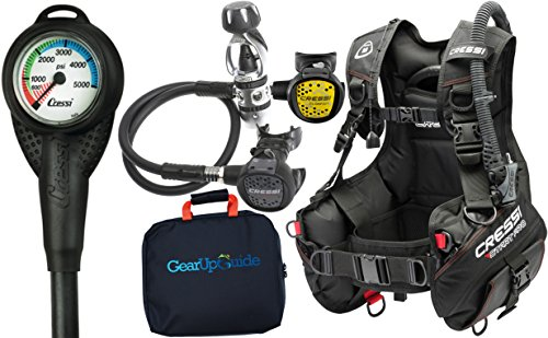 Cressi Start Pro 2.0 Scuba Diving Gear Package Assembled GUpG Reg Bag, Mini SPG MD -  CRPKGIC721902SPG