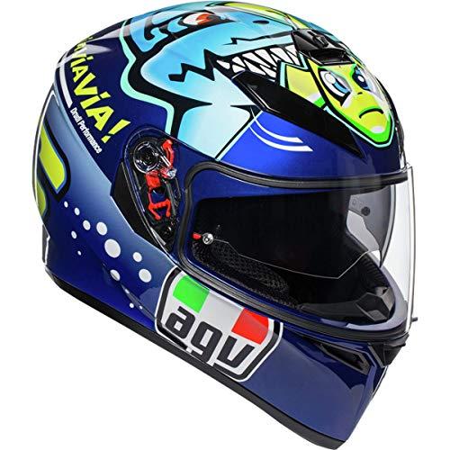 AGV Unisex-Adult Full Face Helmet (Blue, Large)