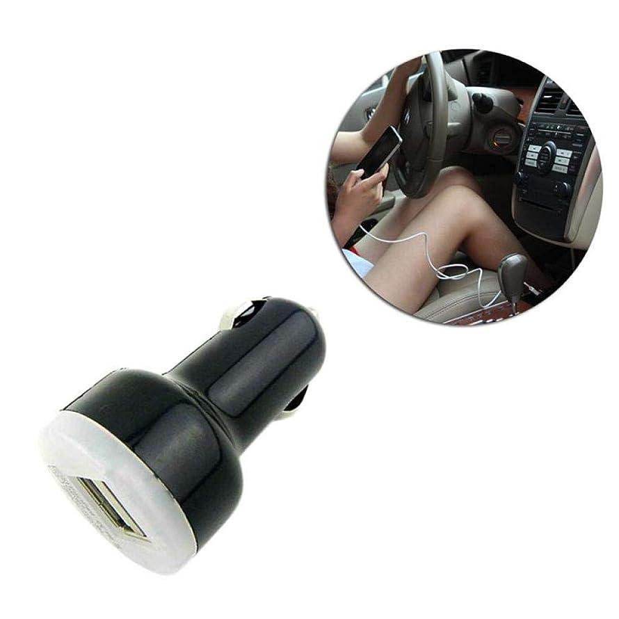 1PC Car Charger Mini 2-Port Universal Bullet LED USB 2.1A Adaptor for Mobile Phone Ipad Black
