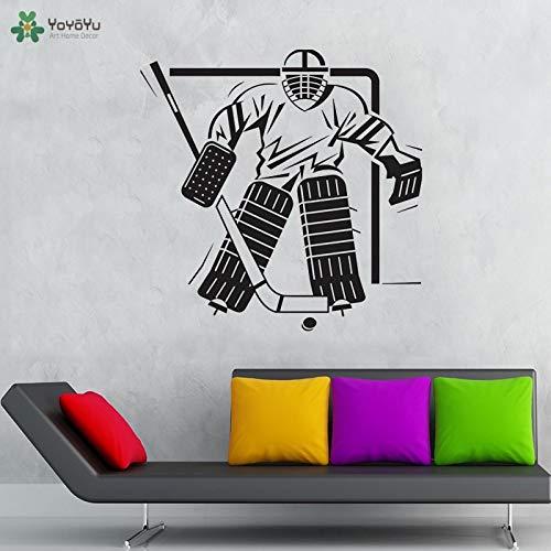 zqyjhkou Wandtattoo Feld Eishockey Sport Quote Wandaufkleber Mädchen Jungen Schlafzimmer Dekor Vinyl Kunst Dekoration Sport Poster 96x96 cm