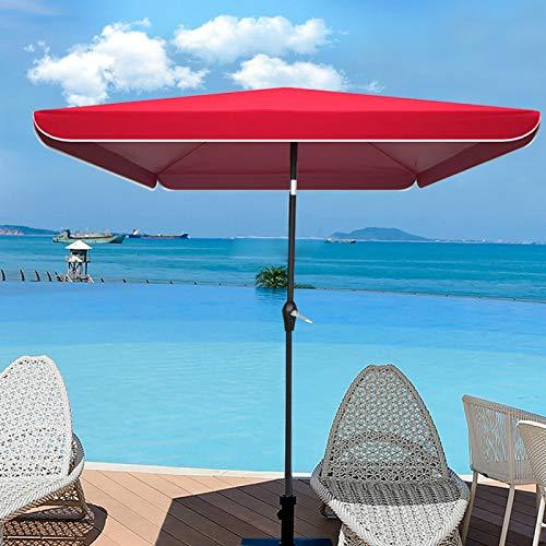POHOVE Ersatz-Sonnenschirm für Terrasse, wasserdicht, für den Außenbereich, manueller Schieber, Gartenmöbel, Abdeckung