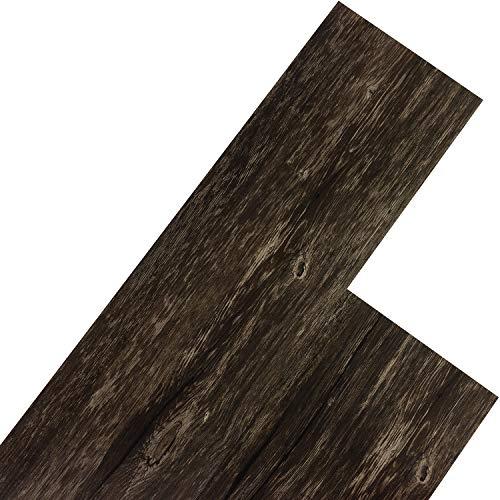 STILISTA Vinyl Laminat Dielen, 15 Dekors wählbar, 5,07m² oder 20m², rutschfest, wasserfest, schwer entflammbar - 5,07m² Eiche rustikal dunkel