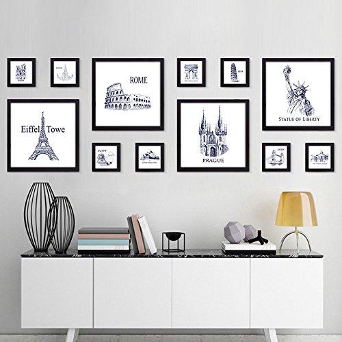 Bilderrahmen*Foto Wandschmuck wand Wohnzimmer Ideen aus der Stanze foto Wohnwand, 4-Black Box
