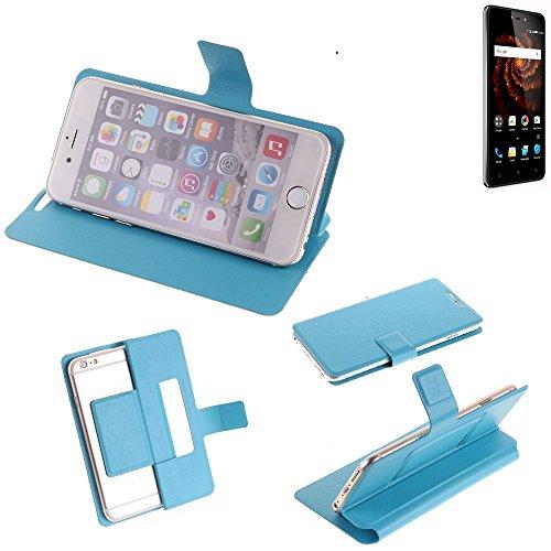 K-S-Trade® Flipcover Für Allview X3 Soul Lite Schutz Hülle Schutzhülle Flip Cover Handy Case Smartphone Handyhülle Blau