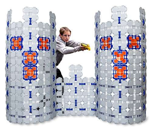 Blaster Boards - 4 Pack | Kids Fort Building Kit for Nerf Wars & Creative Play | 184 Piece Set
