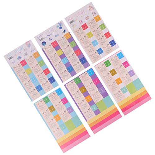 EXCEART 12 pcs Calendar Planner Stickers Reminder for Journal Planners Notebook Diary Scrapbook Flags Stickers Monthly Index Tabs Calendar 2020 Monthly Weekly Daily