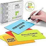 25 Scrum Magnete Wiederbeschreibbar 15 x 10 cm für Agile, Scrum, Kanban oder Lean (Mix 5 Farben)