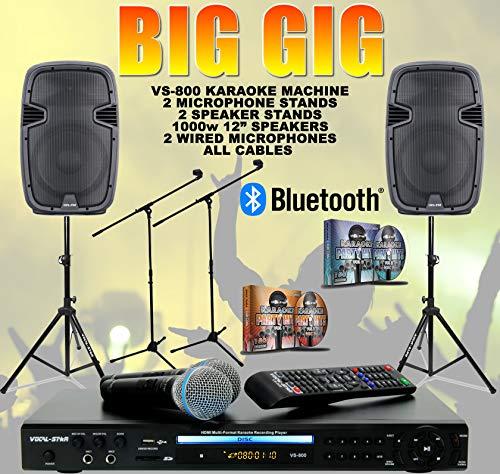 Vocal- Star VS- 800 BIG GIG -  Juego de karaoke (incluye altavoces de 1000 W,  12
