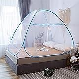 Mosquitera, red de doble entrada para dormitorio, antiinsectos, para hogar  azul azul Talla:150x200