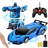 Transform Gesture Remote Control Car, Hobby RC Cars Toy, Rechargeable 1 Button Transformation, 360°Drifting,Kids Boys Girls Toy Gifts