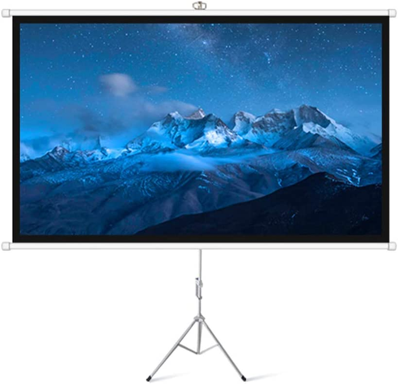 XLOO Projection Screen with Stand,100 Inches,16:9,HD Imaging,Easy to Carry,Suitable for Home Theater,Cinema,Indoor and Outdoor