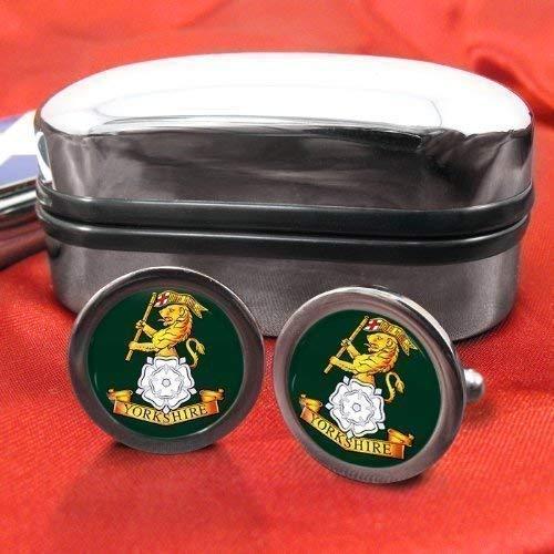 Le Yorkshire régiment Chrome Boutons de manchette pour homme avec coffret cadeau