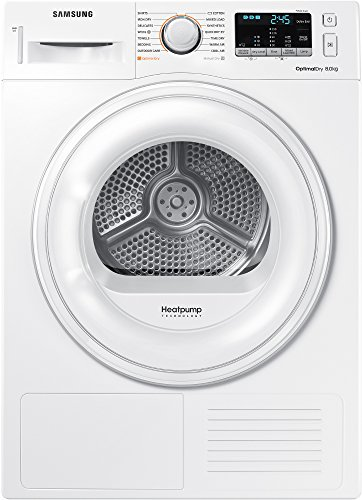 Samsung DV80M50101W Freestanding Front Load White 8kg A++ – Tumble Dryer (Freestanding, Front Loading, Heat Pump, White, Rotary, Touch, Right)