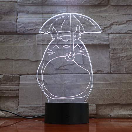 WoloShop LED-Lampe Ghibli Totoro Regenschirm Farbwechsel USB Nachtlicht
