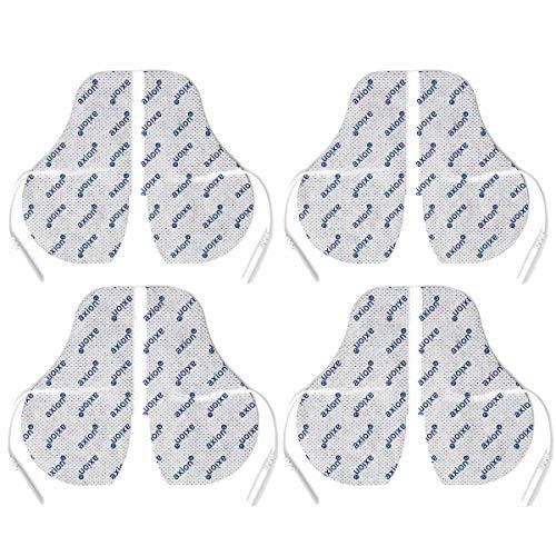 4 axion Nacken-Elektroden im Vorratspack - Perfekte Passform gegen Verspannungen & Nackenschmerzen - TENS & EMS - axion