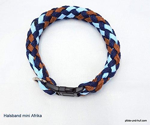 elropet Hundehalsband Mini für die Kleinen rundgeflochten Tauwerk Afrika (30cm) Halsband kleine Hunde