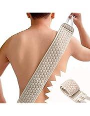 Exfoliërende rugscrubber voor douche voor mannen en vrouwen, diep schoon & versterken van uw huid, lange handvat bad body scrubber borstel - twee zijdig