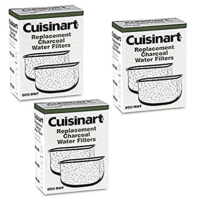 Cuisinart DCC-RWFTriple Pack Charcoal Water Filters in Cuisinart DCC-RWF Retail Box