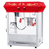 6112 Great Northern Popcorn Red Foundation Top Popcorn Popper Machine, 4 Ounce