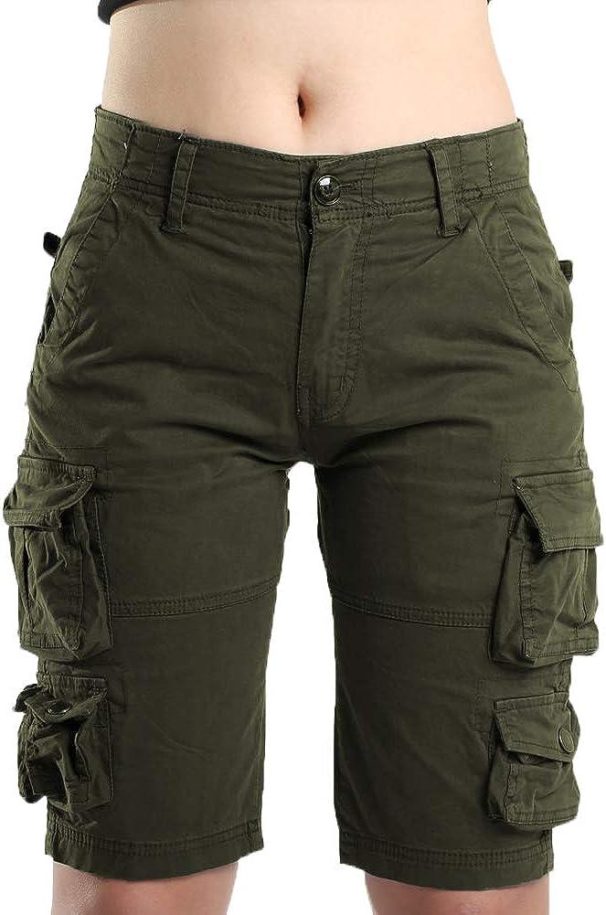 FOURSTEEDS Women's Cotton Butt Kansas City Mall Multi-Pockets Lift Cas Ranking TOP3 Camouflage