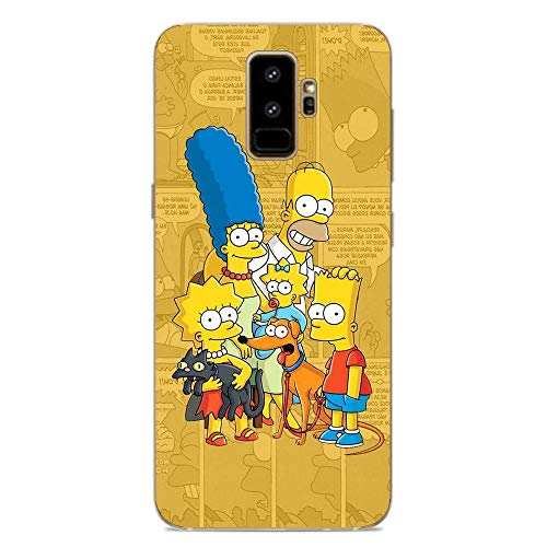 Ultra TPU Silicone Rubber Gel Edge Protection Cover Case for Samsung Galaxy S9 Plus-The Bart-Simpson Cartoon 8