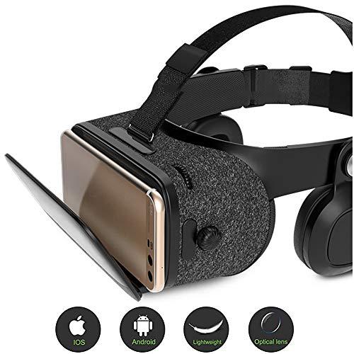 3D Vr-Headset, Virtual Reality-Headset, Geschikt Voor Smartphones, Zachte Hoofdband Huidvriendelijk Schuim, 120 ° Kijkhoek, 42 mm Asferische Optische Lens,B-Bluetooth-audio-adapter