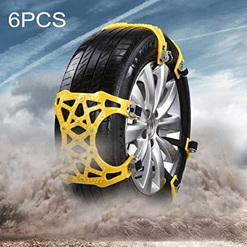 Cadenas de nieve para neumáticos 6 Cadenas coche del PCS del neumático de...