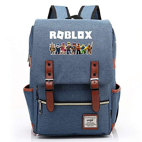 Gioco ROBLOX Zaino, Scuola per adolescenti Adatto a tablet laptop da 15 , Resistente all acqua Pratico Durevole M-14 pollici Colore-04