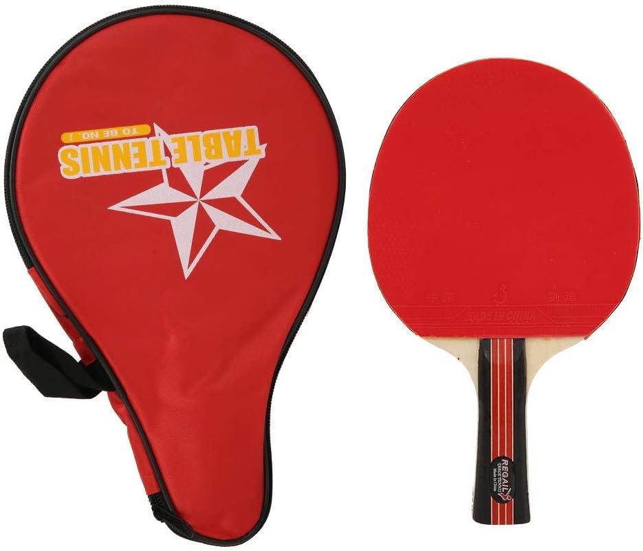 Palas Ping Pong Adulto Profesional Adolescente Individual Tenis De Mesa Raqueta Entrenamiento Práctica con Bolsa De Almacenamiento 8018 Bolsa Roja